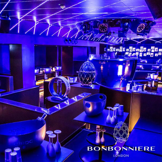 <strong>BONBONNIERE NIGHTCLUB LONDON<span><b>view larger</b></span></strong><i>→</i>